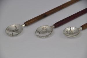 Spoons silver walnut