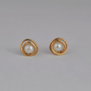 9ct Gold and Pearl Wrap Studs