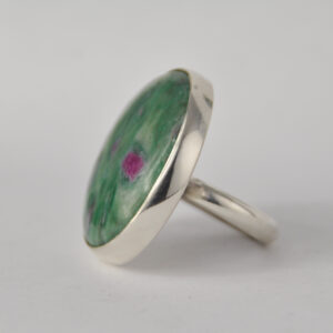 Ruby Zoisite and Silver Ring