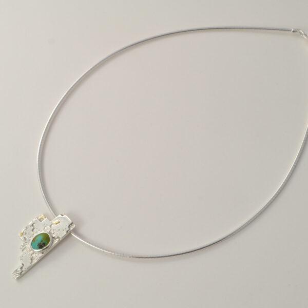 silver-turquoise-18ct gold-baouri-neckpiece